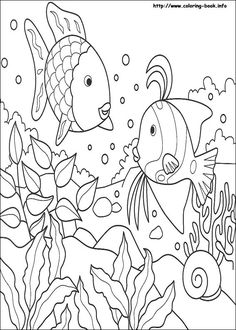 Rainbow Fish coloring picture