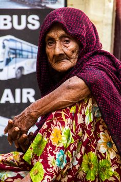 Oude vrouw.