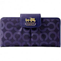 COACH Purple Wallet.  #colorsofsummer
