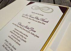 Double Infinity Letterpress Wedding Invitation by Lucky Invitations.