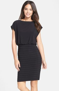 Adrianna Papell Pleated Jersey Blouson Dress available at #Nordstrom