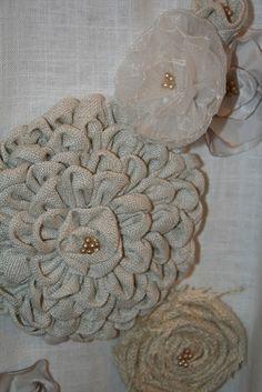 Tutorial for Fabric flower!  Treasured Rubbish: Fabric flowers!