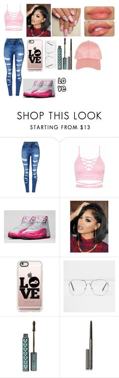 """""""Love"""" by jaden-norman on Polyvore featuring WithChic, NIKE, Casetify, River Island, memento, Burberry and Armitage Avenue"""