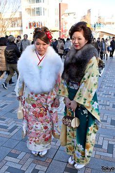Faux Fur Kimono