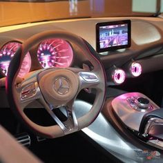 Mercedes with pink lights. #pink #car