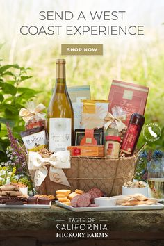 Experience a wide range of gourmet flavors with gift baskets from Hickory Farms. Champagne Gift Baskets, Champagne Gift Set, Wine Gift Baskets, Buttery Sugar Cookies, Hickory Farms, Gift Crates, Fine China Dinnerware, Caramel Crunch, Honey Chocolate