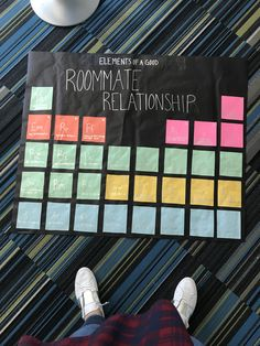 RA bulletin board roommate relationships