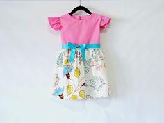 Pink/Blue Flower Girl Dress  Toddler Dress by LoopsyBaby  #kidsclothes #girl #girldress #spring #summer #baby