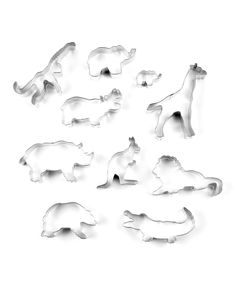 Zoo 10-Piece Cookie Cutter Set - OMGosh!  Kids would just love eating a zoo animal shaped cookie!  Ok, I confess.... I would like to eat a zoo animal shaped cookie! LOL