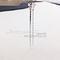 1pc S925 Sterling Silver 925 Sterling Silver Earring Threads - Unique Modern Jewelry; Deconstructed Sterling Silver Jewelry AGSS4 by Argentbead on Etsy