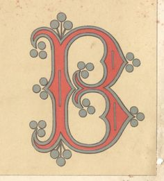 Letter B (Drop caps from 1882)