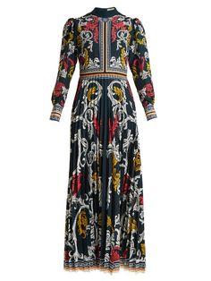 Mary Katrantzou Mizar pleated-crepe gown