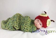 Love this...Hungry Caterpillar Newborn Photo-Prop!
