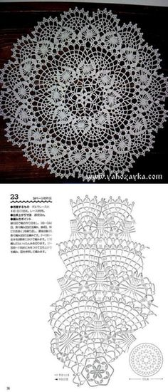 Free Crochet Doily Patterns, Crochet Doily Diagram, Filet Crochet Charts, Crochet Circles, Tatting Patterns, Crochet Motif, Crochet Lace, Spiral Crochet, Crochet Dollies