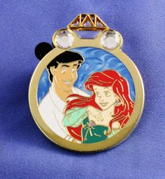 Disney Parks Reveal Conceal Couples Mystery Ariel Eric Mermaid Wedding Ring Pin ....WANT
