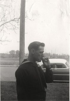 Smoking sailor - April 1957