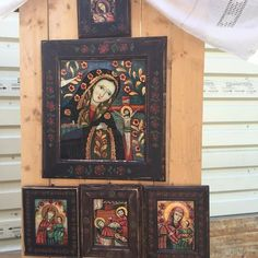 Religious Icons, Religious Gifts, Jesus Christ Images, Christian Art, Frame, Glass, Journals, Religion, Angels