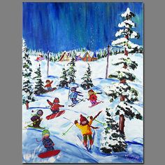 AVAILABLE AT DIANA PAUL GALLERY CALGARY  Click for Next Image Naive, Impressionist, Folk Art, Colours, Gallery, Winter, Illustration, Painting, Image