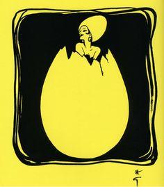 Rene Gruau illustration for Christian Dior's personal cookbook La Cuisine Cousu-Main, 1972.