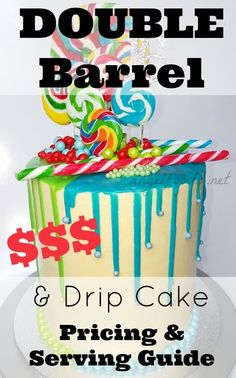Drip cakes have been a hot crazy this year and the double high (double barrel) are extremly popular. In the cake decorating forums what to price these cakes. Baking Business, Cake Business, Business Advice, Online Business, Cupcakes, Cupcake Cakes, Double Barrel Cake, Vegan Wedding Cake, Wedding Cakes
