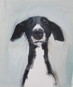 Ideas For Illustration Art Dog Paintings Black And White Dog, White Dogs, Black And White Artwork, Black Art, Animal Paintings, Animal Drawings, Art Drawings, Art Et Illustration, Illustration Simple