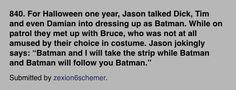 Jason being weird...Batman! #batfamily #headcanons