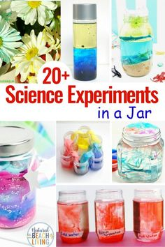 Science Experiments in a Jar are the Best! These Preschool Science Activities and Science Projects are Easy and Mostly Mess free, Grab a few mason jars and get ready to excite your kids with these fun Science Activities and Science Experiments for Kids Science Experiments For Preschoolers, Preschool Science Activities, Cool Science Experiments, Science For Kids, Science Projects, Kid Projects, Summer Science, Science Ideas, Preschool Learning