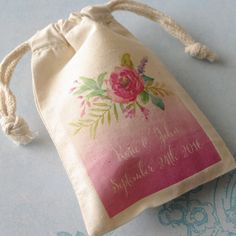 Please do not purchase this listing. This is a sample only so please send me a convo and Ill create a listing just for you based on your required Rustic Wedding Favors, Wedding Favor Bags, Muslin Bags, Floral Design, Just For You, York, Create, Birthday, Party
