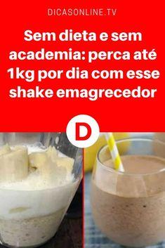 Shake emagrecedor caseiro | Sem dieta e sem academia: perca até 1kg por dia com esse shake emagrecedor | Shake caseiro para Emagrecer de Verdade!