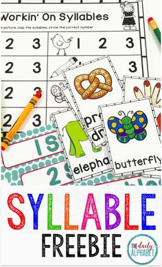 Practicing syllables help students to begin to hear the different parts in a word. This freebie center is easy to prep, and great to use in small group, transitioning to independent practice.