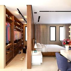 Nice 35 Spectacular Small Bedroom Design Ideas For Cozy Sleep. Bedroom Design 35 Spectacular Small Bedroom Design Ideas For Cozy Sleep Bedroom Closet Storage, Bedroom Closet Design, Small Bedroom Designs, Modern Bedroom Design, Home Room Design, Master Bedroom Design, Home Bedroom, Bedroom Decor, Wardrobe Design