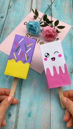 Diy Crafts Hacks, Diy Crafts For Gifts, Diy Home Crafts, Creative Crafts, Fun Crafts, Diy Projects, Project Ideas, Kawaii Crafts, Creative Box