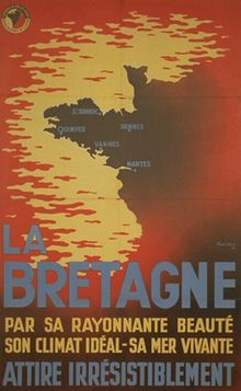 """""""Brittany: For her shining beauty, ideal climate, and dynamic sea – an irresistible pull"""" Breizh Ma Bro, Region Bretagne, Little Britain, Pub Vintage, Brittany France, Ville France, Travel Memories, Vintage Travel Posters, Cool Posters"""