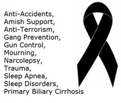 Black Macrame Awareness Bracelets to show support for illnesses listed here