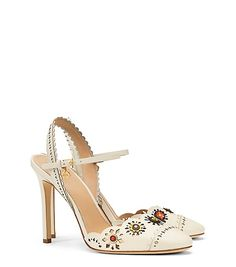 Tory Burch Marguerite Perforated Slingback Sandal