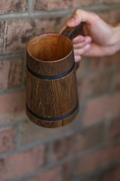 Wooden Beer Mug 0.7 l 23oz natural wood handmade by oakwoodwork