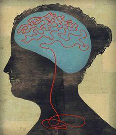 Ken Orvidas / string brain - HeadRoom - editorial illustration on memory loss