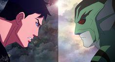 Superboy VS Lagoonboy by MissDianaRussia
