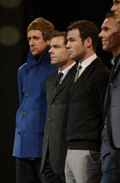 Wiggins, Evans, Cavendish at the Tour presentation