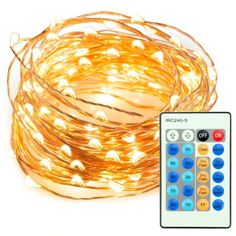 100 LED String Lights Dimmable with Remote Control TaoTronics Waterproof Decorative Lights for Bedroom Patio Garden Gate Yard Parties Wedding ( Copper Wire Lights Warm White ) Starry String Lights, String Lights In The Bedroom, Indoor String Lights, Twinkle Lights, Light String, Led A Pile, Bedroom Decor Lights, Tree Bedroom, Bedroom Lamps