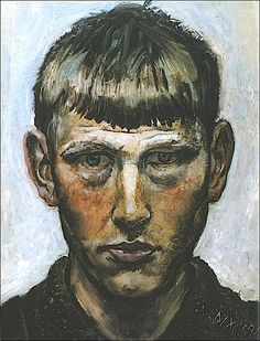 Self Portrait 1913-Otto Dix
