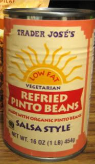 Trader Joe's Refried Pinto Beans...best ever.