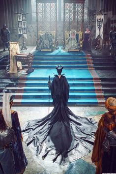 I absolutely LOVE this scene because they got Maleficent's robes exactly like the earlier animated version. Found on Tumblr.