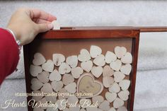 drop guestbook wedding guest book and by stampshandmadeforyou