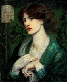 The Salutation of Beatrice by Dante Gabriel Rossetti.  A previously unpublished portrait of Jane Morris, known only through a private letter to the sitter, to be auctioned at Christie's, 31 May 2012.