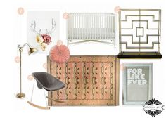 Emerson Grey Designs : Nursery Interior Designer: Dusty Rose and Grey Nursery {For Like Ever}