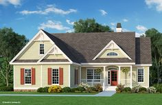 Search house plans from the Donald Gardner portfolio of custom home designs. The best home plans since Custom modification to all floor plans available. Porch House Plans, Cottage Style House Plans, Open House Plans, Simple House Plans, House Plans One Story, Bungalow House Plans, Country House Plans, Dream House Plans, House Floor Plans