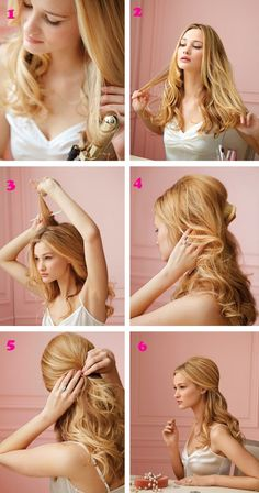 gorgeous hairstyle tutorial. half up