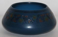 Marblehead Pottery Four Color Berries and Leaves Bowl from Just Art Pottery