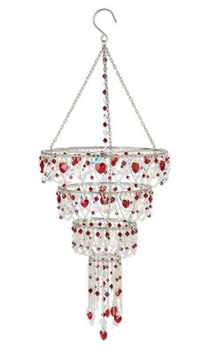 Chandelier with Swarovski Crystal Beads and Drops and Sterling Silver Chain - Fire Mountain Gems and Beads
